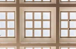 Architecture ceiling windows as 3d illustration