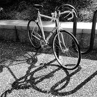 Bicycle Retro Black And white