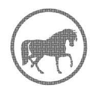 horse pattern icon drawing