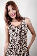 Model Beauty panter dress