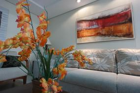 Apartment Decoration orange flowers
