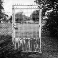 Rustic Gate Fence black and white