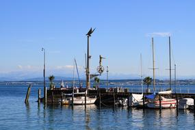 photo of the port on Lake Constance in Germany