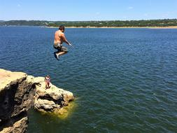 Cliff Jump Lake man