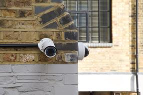 private security cameras on the building