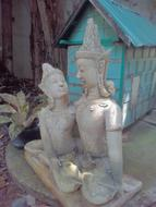 care and love as a sculpture in asia