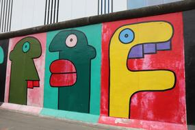 East Side Gallery face wall
