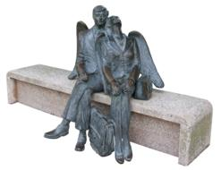 Angel Male Wing people statue