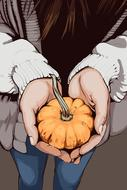 thanksgiving hands gourd pumpkin drawing