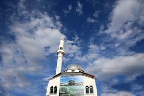 photo of a mosque against the blue sky in Albania