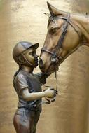 Girl Horse statue