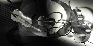 cello music concert banner black and white
