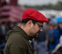 Adult Man red hat