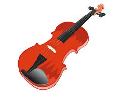 violin musical instrument string drawing