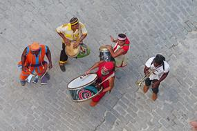 Group Of People street musician