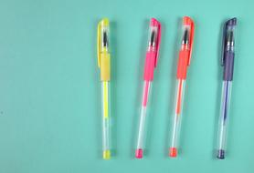 photo of four multi-colored pens
